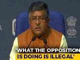 Video : Ravi Shankar Prasad Attacks Opposition On Farm Bill Row