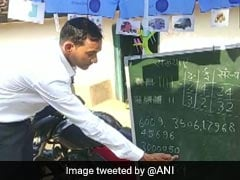 Blackboard Strapped To Bike, Chhattisgarh Teacher Brings School To Students