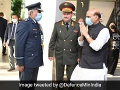 Watch: Rajnath Singh's <i>Namaste</i> As Officer Offers Handshake
