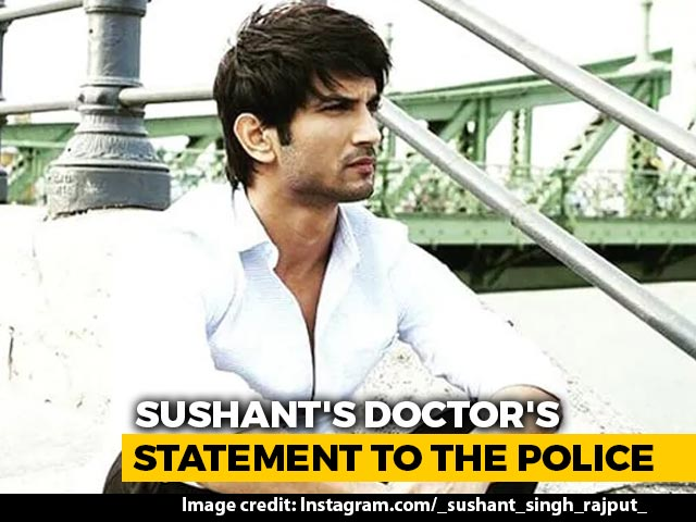 Video : Sushant Rajput Had Depression, Had Stopped Medication: Doctors To Cops