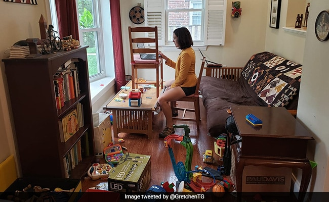 The Reality Of Working From Home - Summed Up In Two Viral Pics