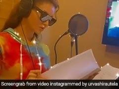 उर्वशी रौतेला ने ' थिरुट्टू पेले 2' के हिंदी रीमेक के लिए डबिंग की स्टार्ट