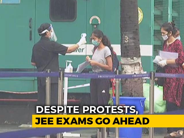 Video : Staggered Seating, Face Masks As Crucial JEE Exam Starts Today