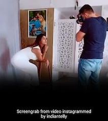 टीवी की 'सीता' करवा रही थीं फोटोशूट, बीच में आए 'राम', करने लगे गोविंदा के गाने पर डांस- देखें वायरल Video