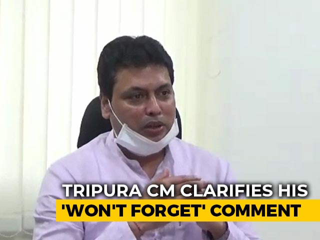 """Video : """"Monkey Shown As Tiger"""": Tripura Chief Minister Clarifies Remark On Media"""