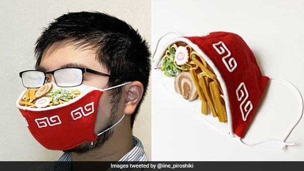 Japanese Artist Uses 'Fogged Up' Spectacles To Create Unique Ramen Mask