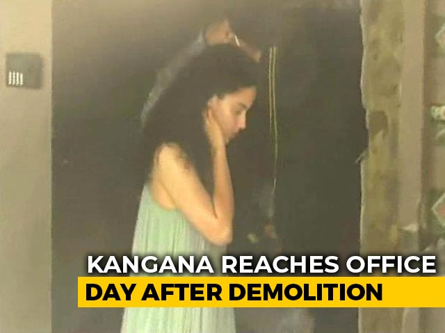 Video: After High Court Win, Kangana Ranaut Visits Partially-Demolished Office