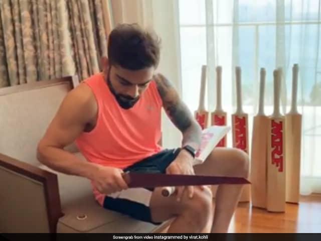 IPL 2020: Virat Kohli Uses A Saw To Give Final Shape To His Bat, Hardik Pandya Has A Request. Watch