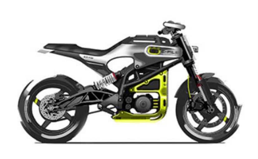 A design sketch from an investor presentation reveals the electric Husqvarna E-Pilen