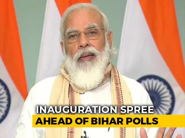 Video : PM Modi Inaugurates Rail Projects For Bihar; Slams Previous Government