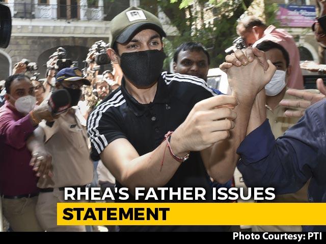 "Video : ""Congratulations India"": Rhea Chakraborty's Father On Son Showik's Arrest"