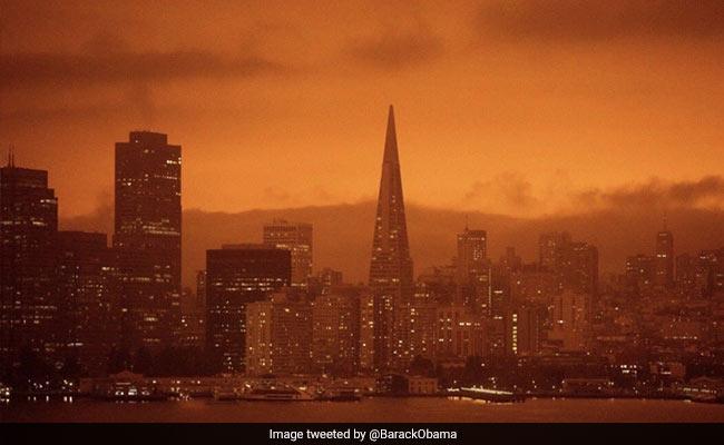 Barack Obama Shares Pics Of Orange Skies Amid West Coast Fires