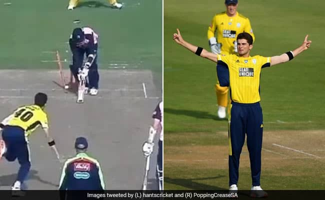 Pakistan pacer Shaheen Afridi claims four wickets in 4 balls, all of them bowled
