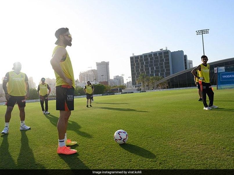 """Watch: It Is Virat Kohli vs AB De Villiers In RCBs """"Modified Football"""" Match"""