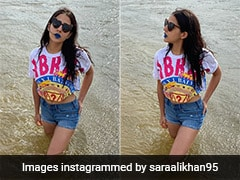 Sara Ali Khan Has Got The Blues But This Time With A Super Bold Lipstick