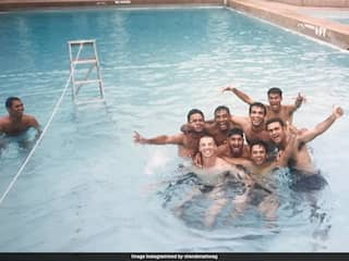 Virender Sehwag Shares Throwback Pool Pic With Former Teammates