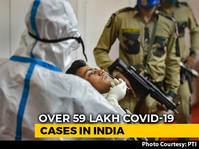Video : 85,362 New Covid Cases In 24 Hours In India, Total Crosses 59 Lakh