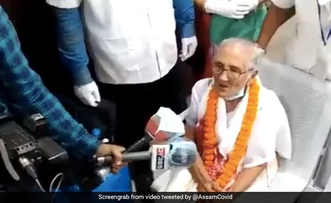 असम में 100 वर्षीय महिला ने कोरोना को हराया, नर्सों ने इस तरह मनाया - वीडियो देखें
