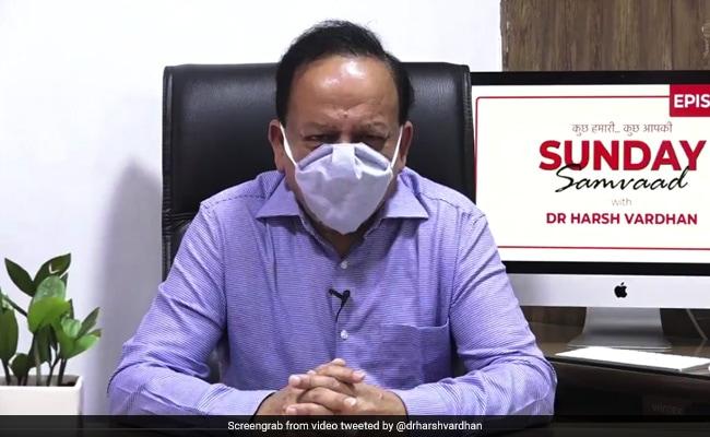 'India At Multiple Trajectories': Harsh Vardhan On Coronavirus Peak