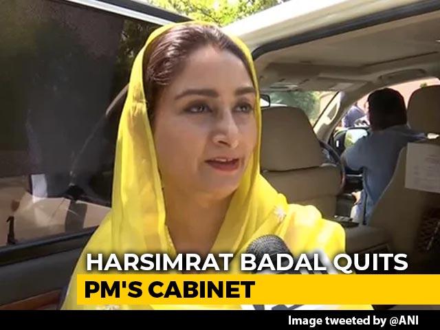 Video : President Accepts Harsimrat Badal's Resignation Amid Row Over Farm Bills