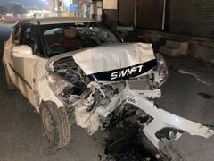 शराब के नशे में धुत कार सवार ने कई गाड़ियों को मारी टक्कर, एक घायल की हालत गंभीर
