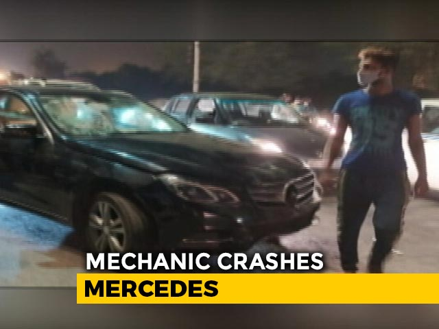 Video : Drunk Mechanic Takes Client's Mercedes For A Ride, Crashes Into Auto, Injures 3
