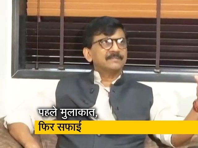Videos : देवेंद्र फडणवीस से मिले शिवसेना नेता संजय राउत