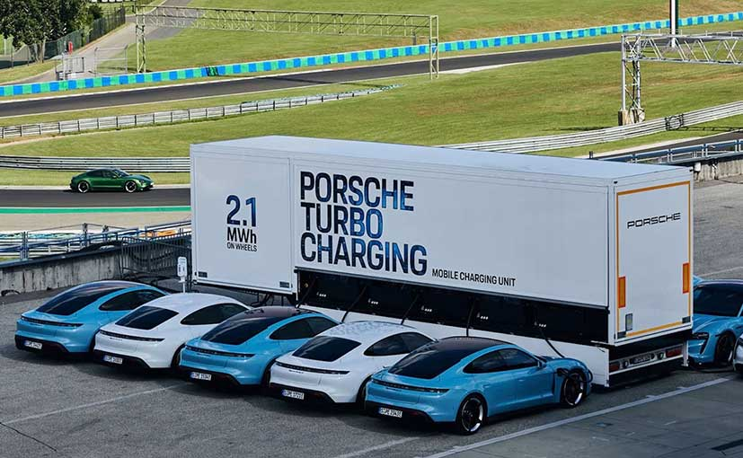 Porsche Unveils 2.1 MWh Mobile Charging System For EVs
