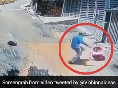 Viral Video: Man Jumps Off Motorcycle, Saves Toddler Rolling Down Hill At High Speed