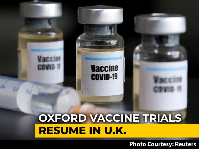 Video : Oxford Vaccine Trials Resume In UK, Were Paused Over Volunteer's Illness