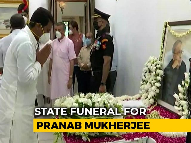 Video : Dignitaries Pay Last Respects To Pranab Mukherjee