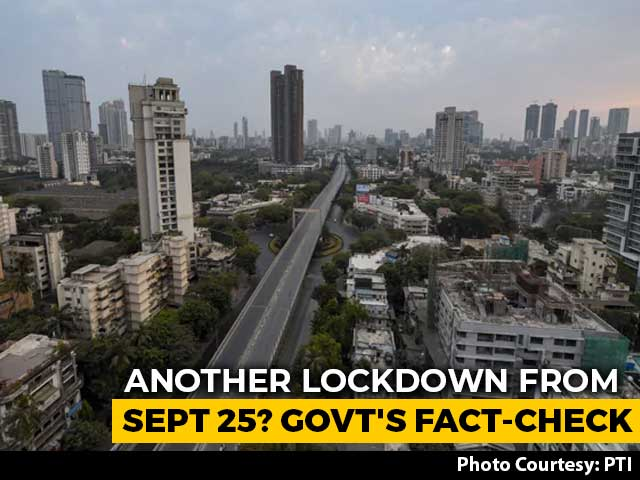 Video : Another Lockdown From September 25? Government's Fact-Check