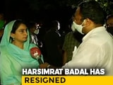 Video : Harsimrat Badal Quits PM's Cabinet, Farm Bills Clear Lok Sabha
