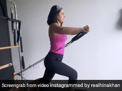 Hina Khan ने वर्कआउट कर जिम में यूं बहाया पसीना, एक्ट्रेस का अंदाज देख फैंस ने भी की तारीफ- देखें Video