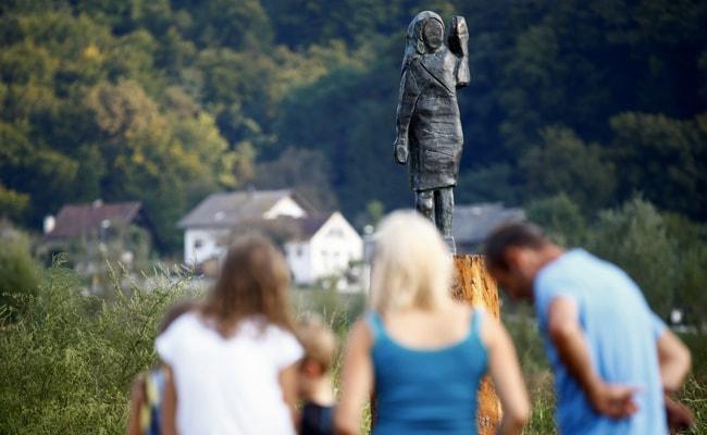 Melania Trump's Bronze Statue Unveiled Near Her Hometown In Slovenia