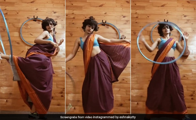 Saree, Sneakers And A Hula Hoop: This Dance To 'Genda Phool' Has Twitter Impressed
