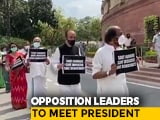 Video : Opposition To Meet President At 5 PM On Farm Bills Amid Parliament Boycott