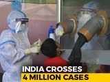 Video : India Crosses 4 Million Coronavirus Cases