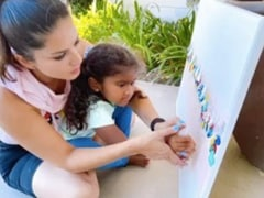 Sunny Leone's Weekend Well Spent With Pint-Sized Painters, Colours And Canvas