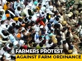 Video : Police Lathicharge Haryana Farmers Protesting Against 3 Farm Ordinances