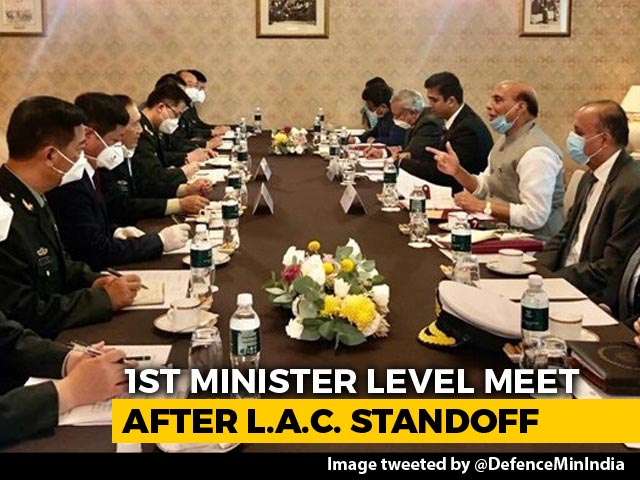 Video : Rajnath Singh, China Defence Minister Meet In Moscow Amid Ladakh Tensions