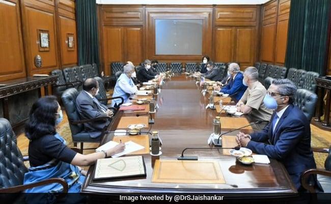 S Jaishankar Holds Talks With US Special Envoy For Afghanistan Khalilzad