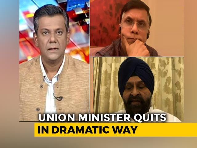 Video : NDA Divided Over Farm Bills: Harsimrat Badal Quits Cabinet