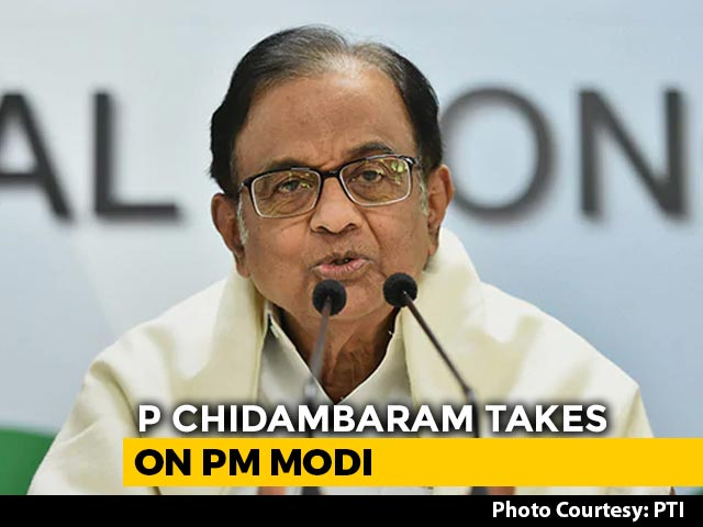 "Video : PM Modi ""Distorted Congress Manifesto"": P Chidambaram On Farm Bills Row"