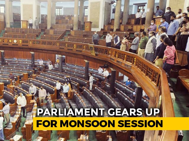 Video : Lok Sabha MPs To Sit In Both Houses Of Parliament Due To Covid Norms