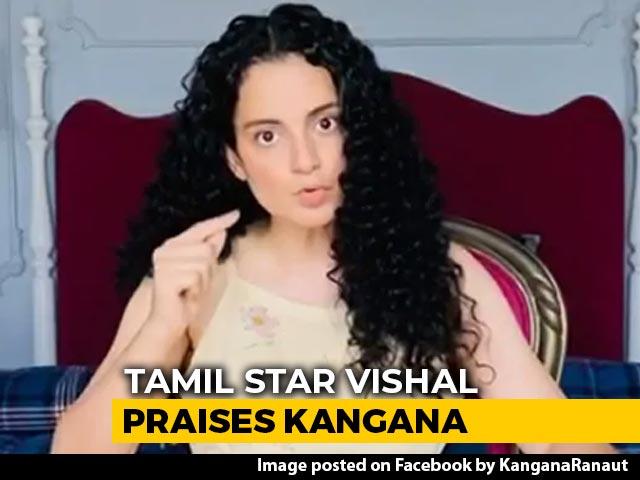 "Video : ""Hats Off"": South Actor Vishal Compares Kangana Ranaut To Bhagat Singh"
