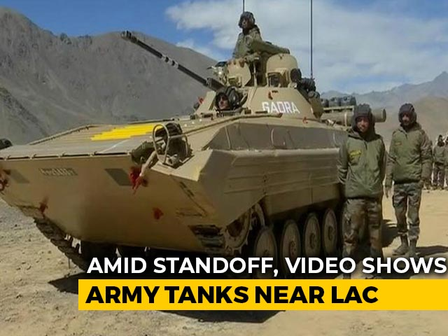 Video : Amid Standoff With China, Video Shows Army Tanks Near LAC