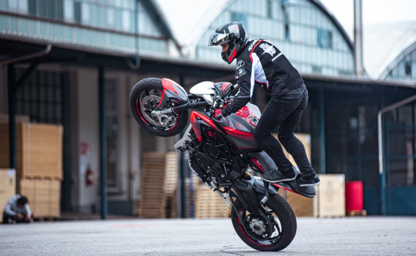 French stunt rider Thibaut Nogues will perform for the MV Agusta Freestyle Division