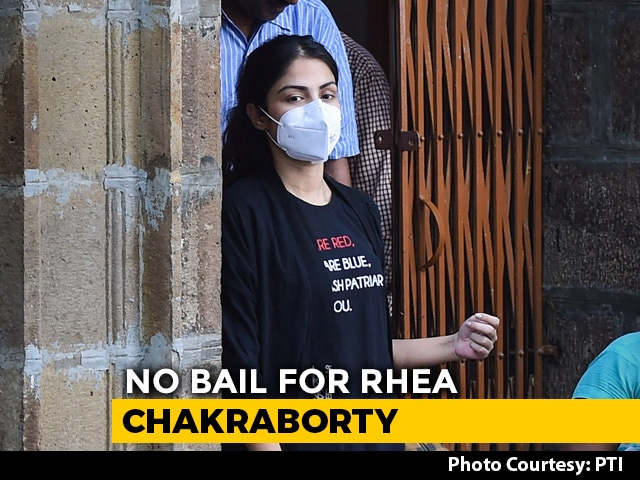 Video : Rhea Chakraborty To Stay In Mumbai Jail For Now, Bail Denied
