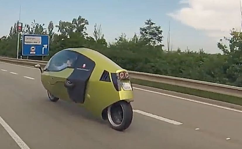 The MonoRacer 130E enclosed electric motorcycle will be available in Europe